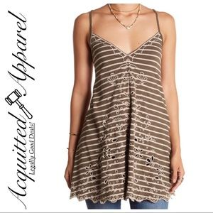 Free People | NWT Seafaring Embroidered Tank Top